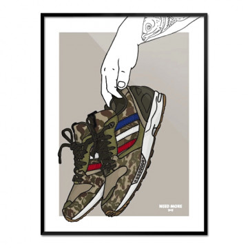 "NEED MORE ""ADIDAS ZX 5000 x BAPE x UNDFTD"" ART PRINT - NM012"