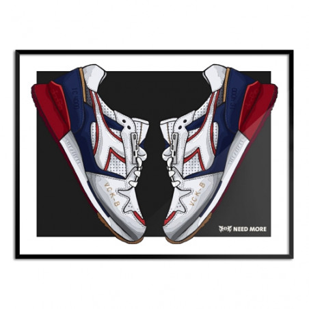 "NEED MORE ""DIADORA I.C. 4000 x 24 KILATES"" ART PRINT - NM013"