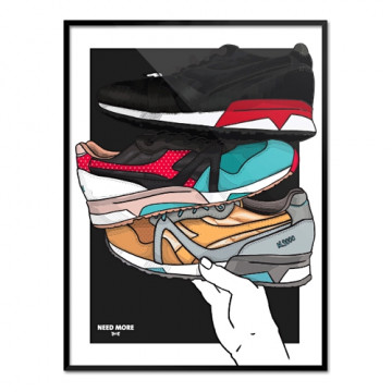 "NEED MORE ""DIADORA N9000 x 24 KILATES x LIMIEDITIONS"" ART PRINT - NM017"
