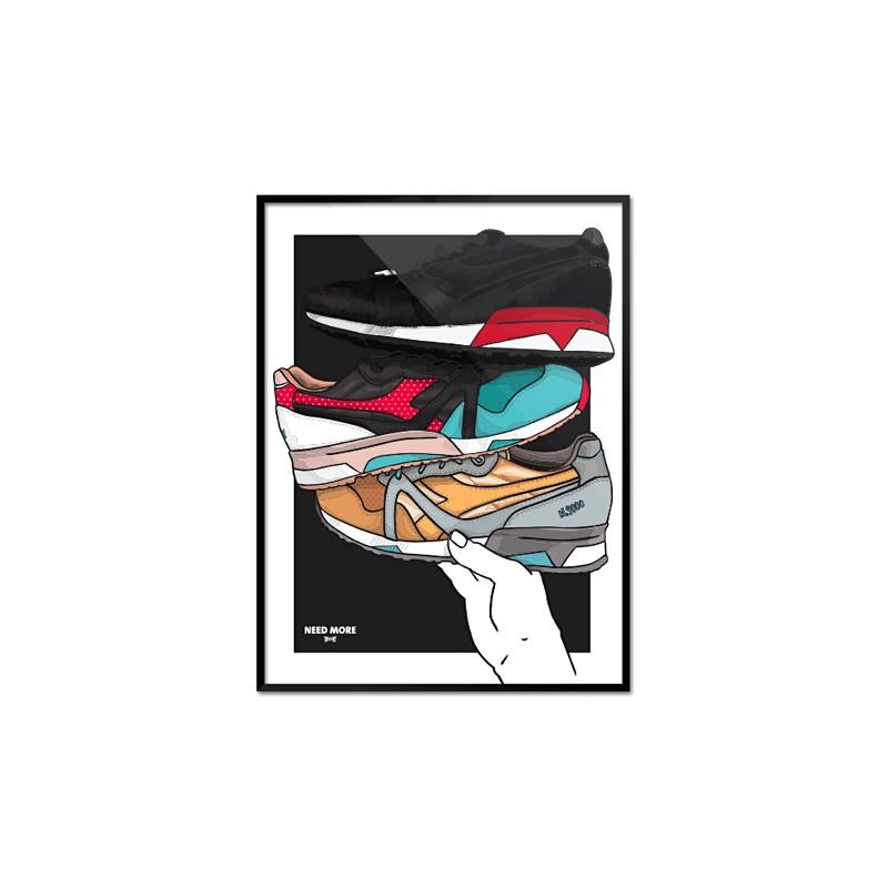 "NEED MORE ""DIADORA N9000 x 24 KILATES x LIMIEDITIONS | ART PRINT"