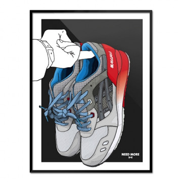 "NEED MORE ""ASICS GEL LYTE III x SLAM JAM"" ART PRINT - NM016"