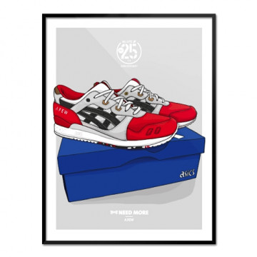 "NEED MORE ""ASICS GEL LYTE III x AFEW"" ART PRINT - NM014"