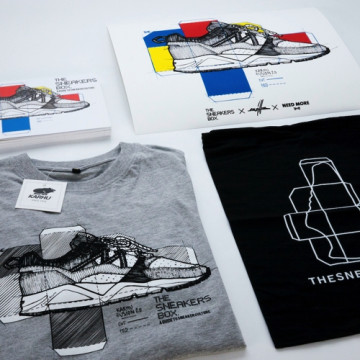 THE SNEAKERS BOX SPECIAL COMBO PACK: BOOK, TEE, PRINT, BAG - TSB005