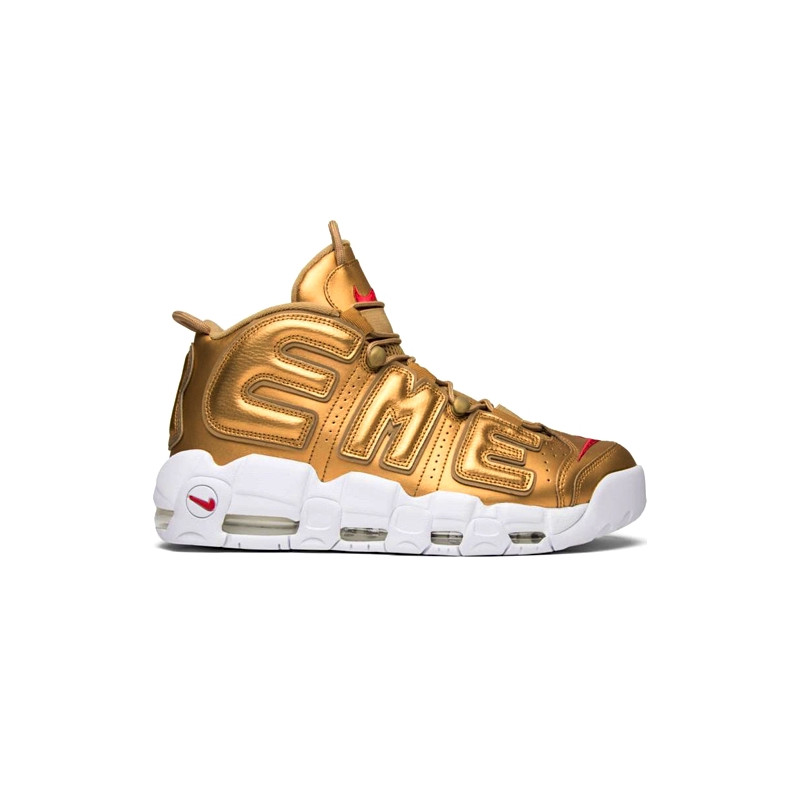 "NIKE AIR MORE UPTEMPO x SUPREME ""GOLD"" - 902290 700"