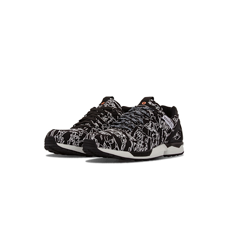 "ADIDAS CONSORTIUM ZX 5000 x UNDEFEATED x MAHARISHI ""BLACK/WHITE/ORANGE"" - B33981"