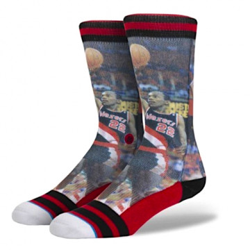 "STANCE CLYDE DREXLER SOCKS ""MULTICOLOR"" NBA LEGENDS"