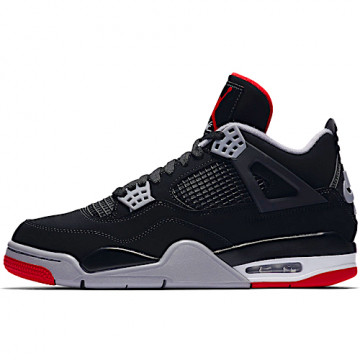 "NIKE AIR JORDAN IV RETRO ""BRED"" BLACK/CEMENT GREY/SUMMIT WHITE/FIRE RED - 308497 060"
