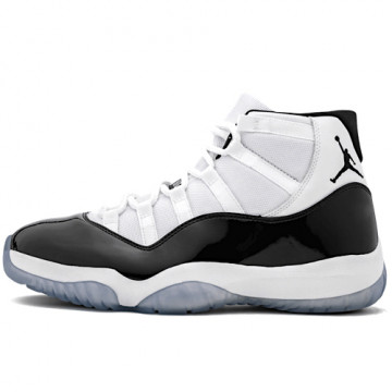 "NIKE AIR JORDAN 11 RETRO ""CONCORD"" WHITE/BLACK/CONCORD - 378037 100"