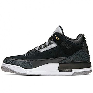 "NIKE AIR JORDAN 3 RETRO ""TINKER"" BLACK/CEMENT GREY/METALLIC GOLD - CK4348 007"