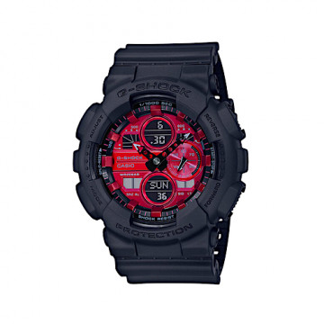 "CASIO G-SHOCK GA-140AR-1AER ""BLACK/RED"""