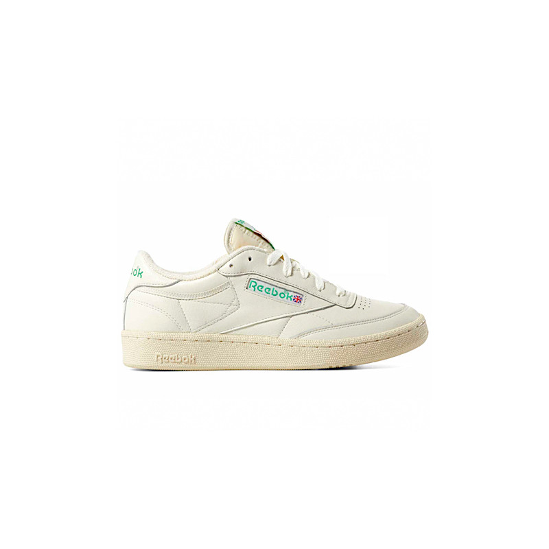 "REEBOK CLUB C 1985 TV ""CHALK/PAPER WHITE/GREEN"" - DV6434"