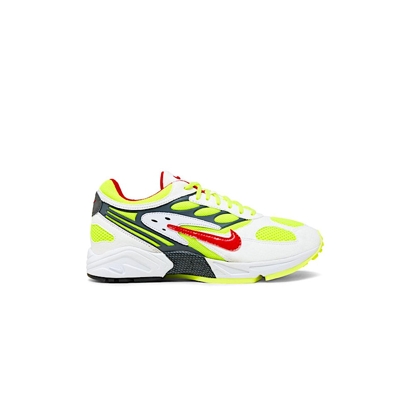 "NIKE AIR GHOST RACER ""WHITE/ATOM RED/NEON YELLOW/DARK GREY"" - AT5410 100"