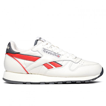 "REEBOK CLASSIC LEATHER MU ""CHALK/RADIANT RED/TRUE GREY 7"" - EG6415"