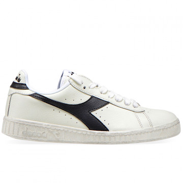 "DIADORA GAME L LOW WAXED ""WHITE/BLACK"" - 160821 C0351"