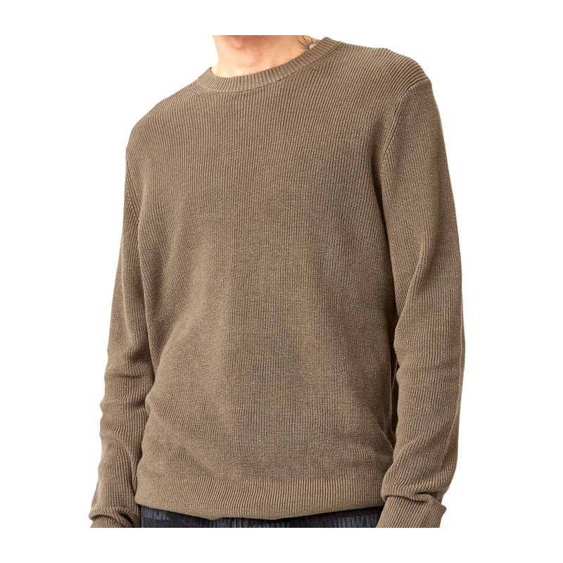 "WOOD WOOD FALCON SWEATER ""MOSS"" - 11935517 4134"