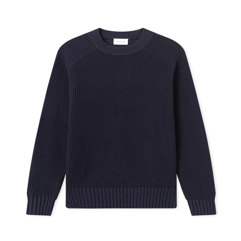 "WOOD WOOD KEVIN SWEATER ""NAVY"" - 12015510 4043"