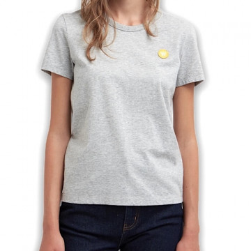 "WOOD WOOD UMA S/S TEE Donna ""LIGHT GREY MELANGE"" - 10212500 2222"