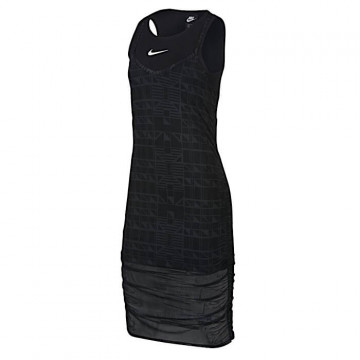 "NIKE INDIO DRESS Donna ""BLACK/BLACK/WHITE"" - CJ3000 010"