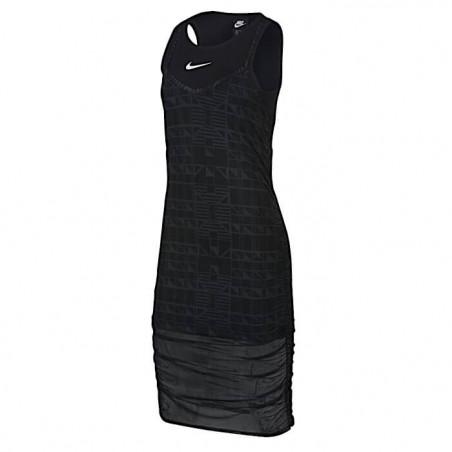 "NIKE INDIO DRESS Donna ""BLACK/BLACK/WHITE"" - CJ3000 010"