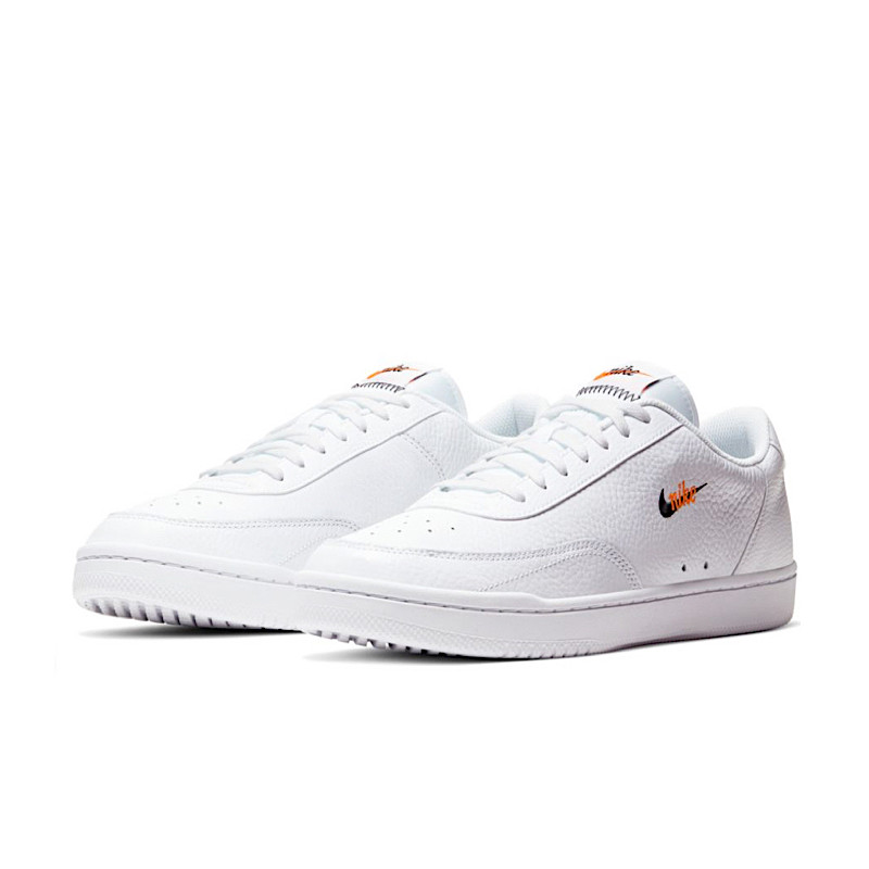 "NIKE COURT VINTAGE PREMIUM Donna ""WHITE/BLACK/TOTAL ORANGE"" - CW1067 100"