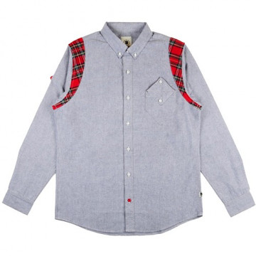 BODEGA  PLAID BUTTON UP L/S SH